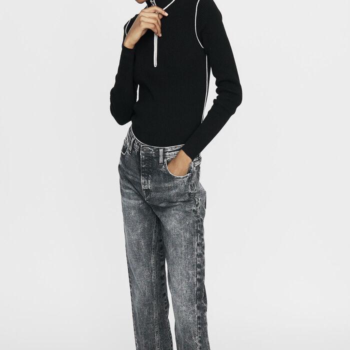 Pullover mit Truckerkragen : Bekleidung farbe Schwarz