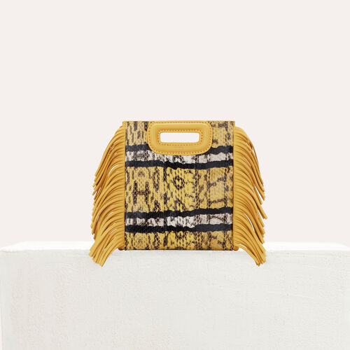 M Mini bag in water snake : New in : Sommer Kollektion farbe Gelb
