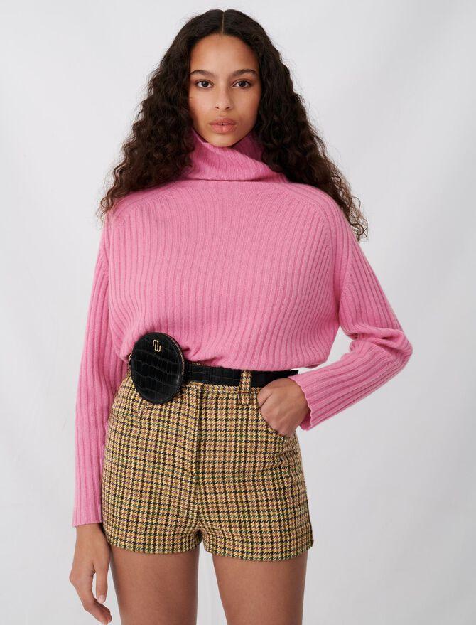 Karo-Shorts mit Details an den Knöpfen - Röcke & Shorts - MAJE