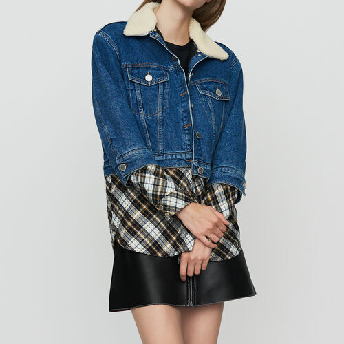 Jeansjacke mit Trompe-l'oeil-Effekt : Le denim farbe Denim