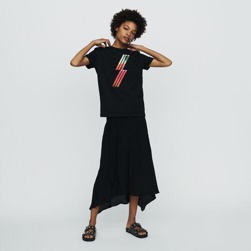T-Shirt mit serigraphierten Stickereien : T-Shirts farbe Schwarz