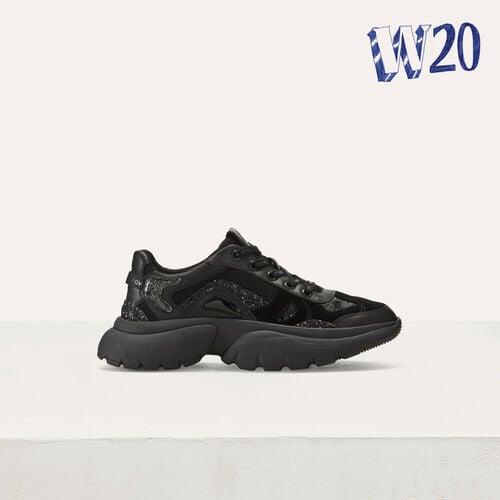 W20 Urban Ledersneakers : Sneakers farbe Weiss