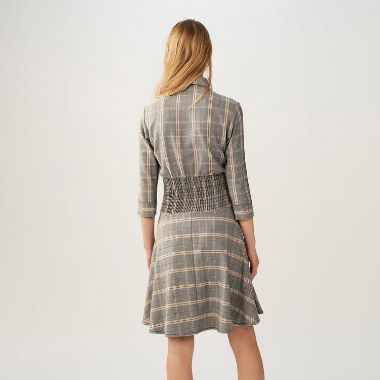 Kleid mit Karomuster : Kleider farbe CARREAUX