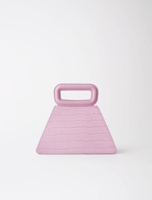 Pyramidenförmige Ledertragetasche : Alle Taschen farbe Rose dragée