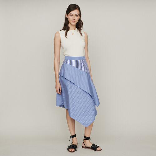 Rock mit Streifen aus Baumwolle : Röcke & Shorts farbe Gestreift