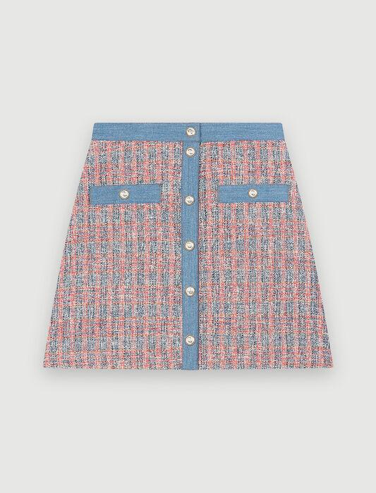 Rock in Tweed-Optik mit Jeansdetails : Röcke & Shorts farbe Test 1