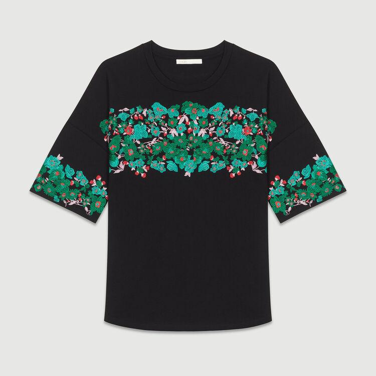 Kurzärmeliger Oversize-Pullover : T-Shirts farbe Schwarz
