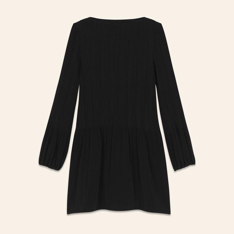 Plissiertes Kleid : Kleider farbe Schwarz