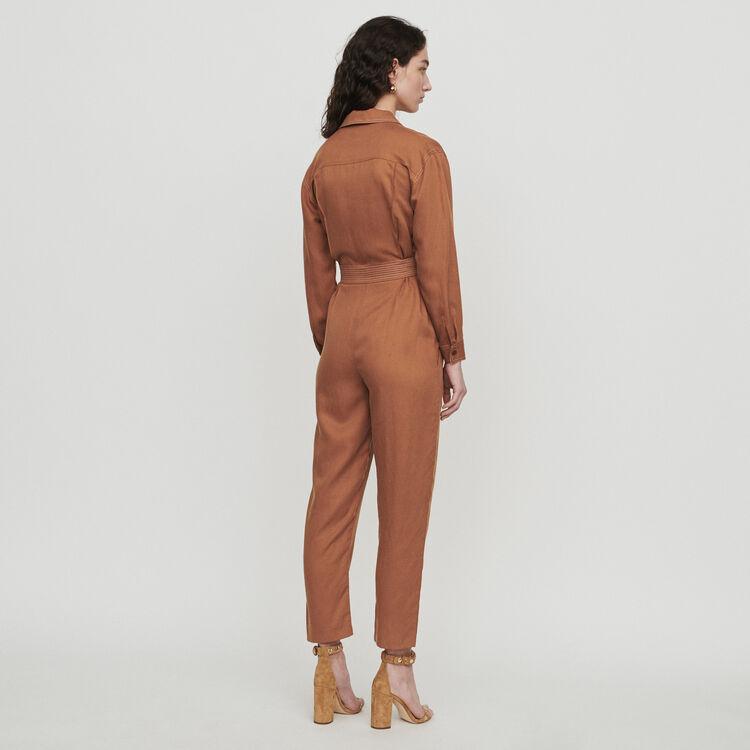Jumpsuit mit Bluse : Hosen & Jeans farbe Terracotta