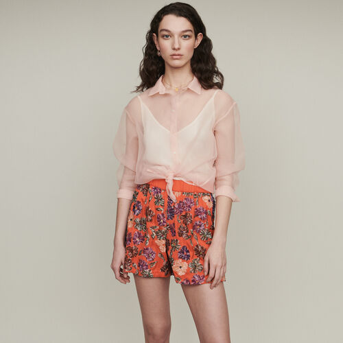 Pailletten-Top : Röcke & Shorts farbe Koralle
