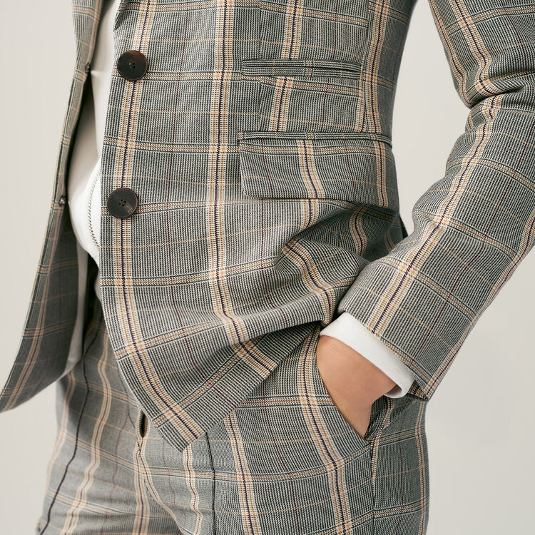 Karierte Jacke mit Schulterpolstern : Blazers farbe CARREAUX