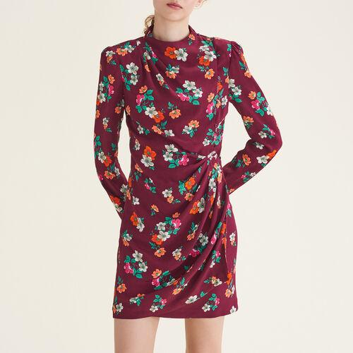 Bedrucktes Wickelkleid : Kleider farbe Print