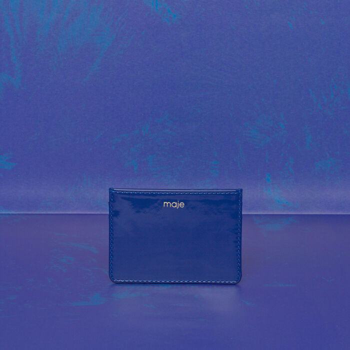 Kartenetui aus Leder : Gift with purchase farbe Blau