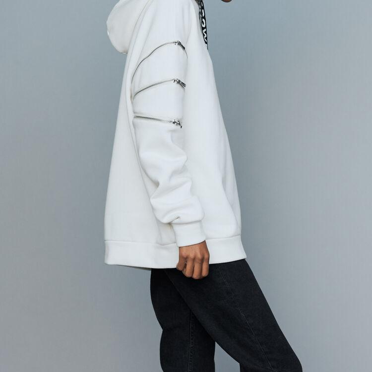 Sweatshirt mit Kapuze : Sweatshirts farbe Weiss