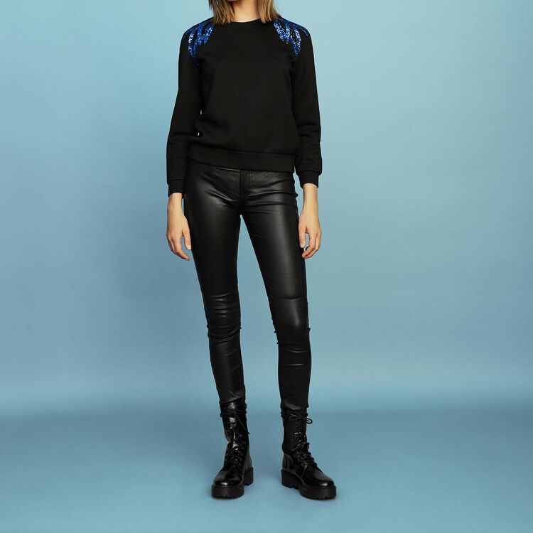 Besticktes Sweatshirt : Sweatshirts farbe Schwarz