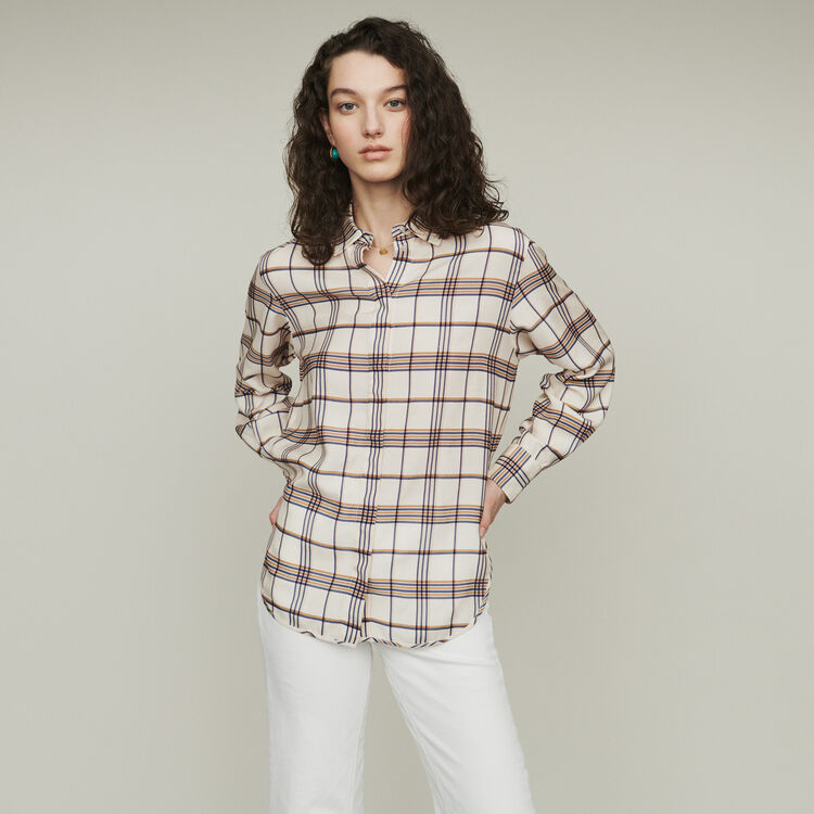 Fliessendes Hemd mit Karomuster : Tops & Hemden farbe CARREAUX