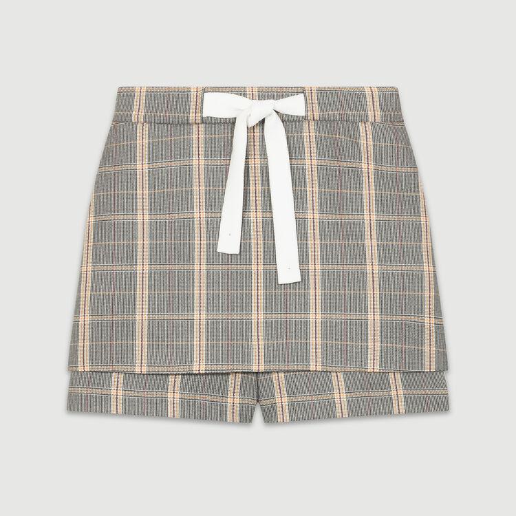 Shorts mit Karomotiv : Röcke & Shorts farbe CARREAUX