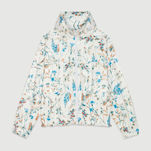 Windbreaker with floral print : Jacken farbe IMPRIME
