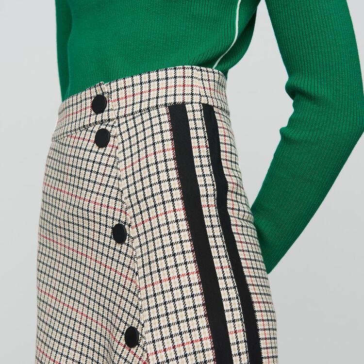 Langer asymmetrischer Rock mit Karos : Röcke & Shorts farbe CARREAUX