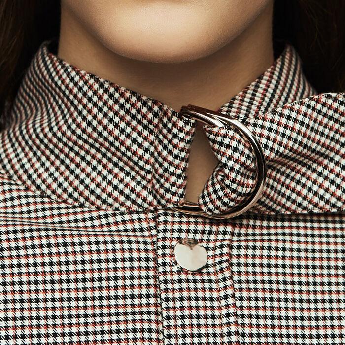 Overshirt-Hemd mit Hahnentrittmuster : Blazers farbe CARREAUX