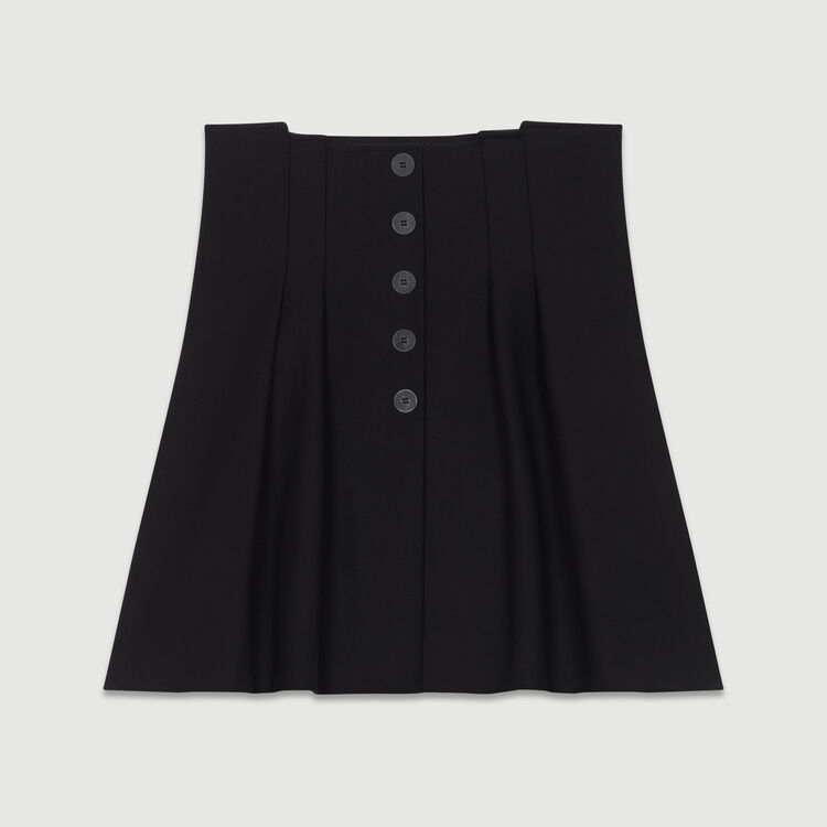 Kurzer Faltenrock : Röcke & Shorts farbe Schwarz