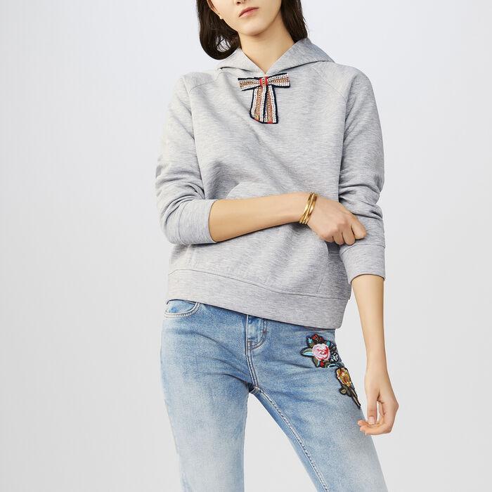 Kapuzen-Sweatshirt mit abnehmbarer : Sweatshirts farbe Grau