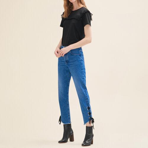 Vaquero corto de corte boyfriend : Hosen und Jeans farbe Blau