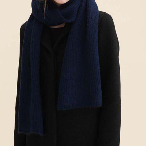 Schal aus Wollgemisch : Accessoires farbe Marineblau