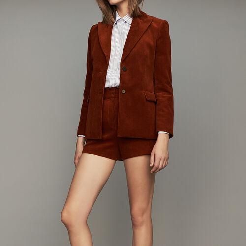 Cord-Blazer : Blazers farbe Karamell