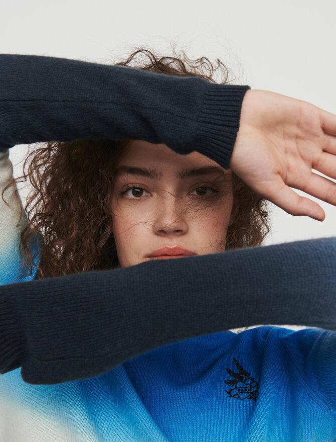 Degradierter bunter Pullover -  - MAJE