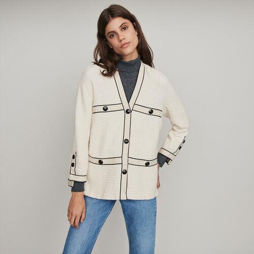 Jacke mit kontrastierenden Tweed : Winter Kollektion farbe Ecru