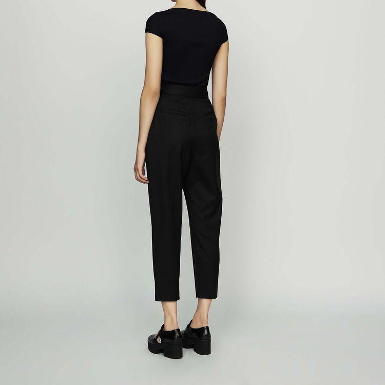 Bundfaltenhose aus Schurwolle : Neue Kollektion farbe Schwarz