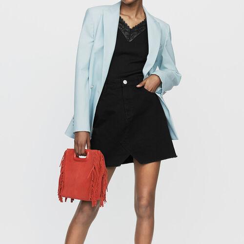 Kurzer Jeansrock : Röcke & Shorts farbe Schwarz