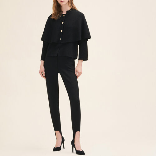 Kurzer Cardigan im Cape-Stil : Pulls & Cardigans farbe Schwarz