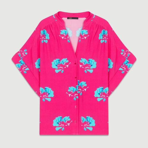 Oversize-Hemd mit Print : Hemden farbe IMPRIME