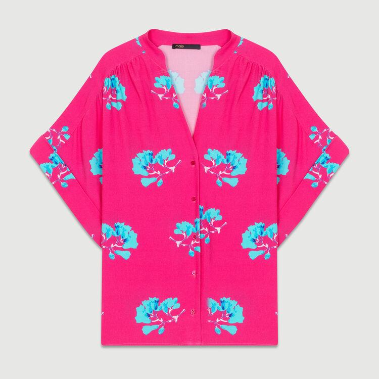Oversize-Hemd mit Print : Neue Kollektion farbe IMPRIME