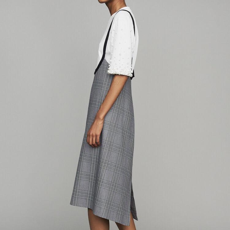 Trägerkleid aus Jacquard : Kleider farbe CARREAUX