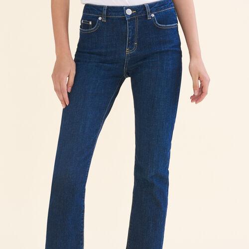 7/8-Jeans aus Stretchbaumwolle : Pantalons & Jeans farbe Blau
