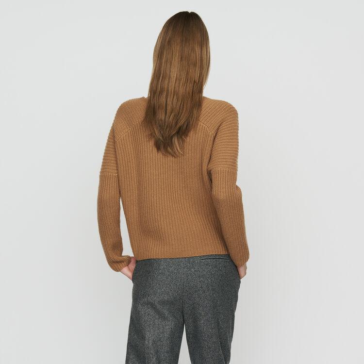 Oversize-Pullover aus Kaschmir : Strickwaren farbe Camel