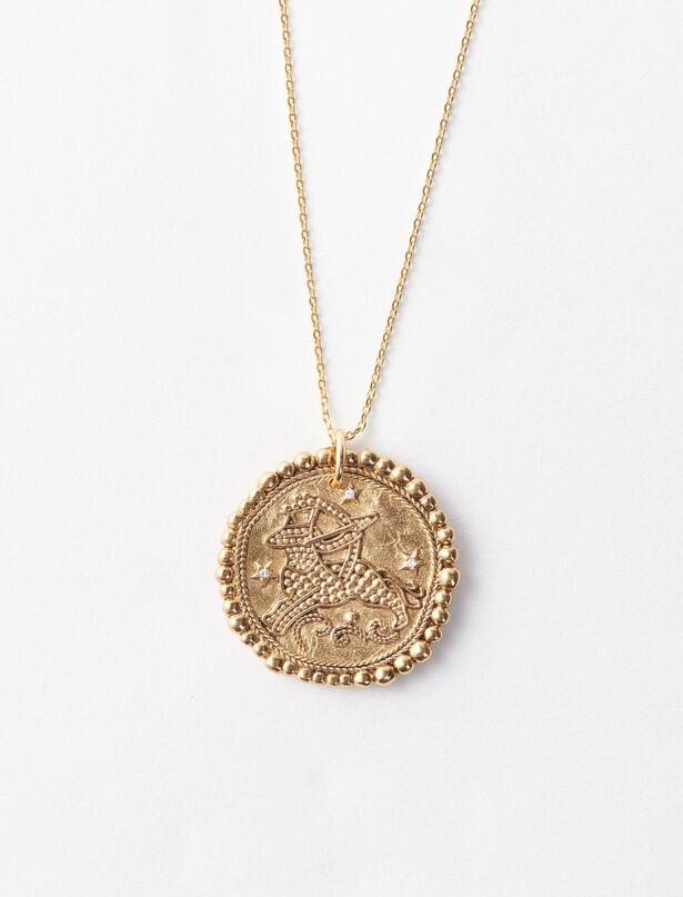 마쥬 MAJE Sternzeichen Schuetze Halskette,Antik Messing