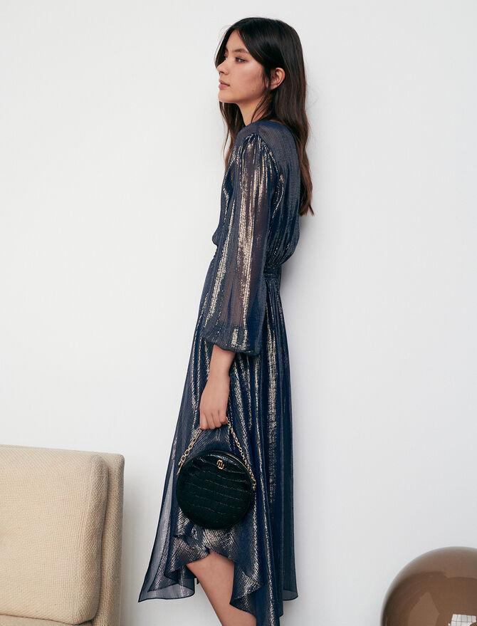 Asymmetrisches Kleid mit Animalprint - Alles sehen - MAJE