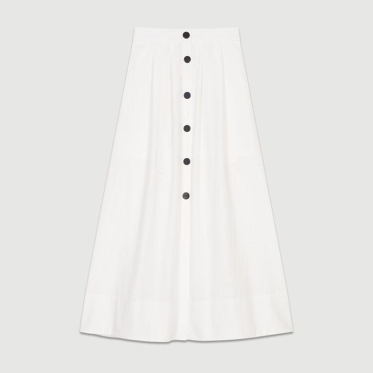 Langes Kleid mit Stickereien : Röcke & Shorts farbe Weiss