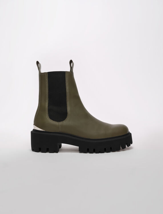 Chelsea-Boots mit Plateausohle - Stiefel & Boots - MAJE