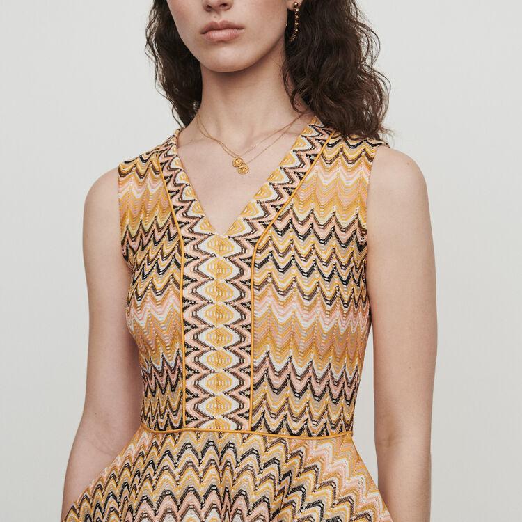 Skaterkleid aus gestreiftem Strick : Kleider farbe Mehrfarbigen