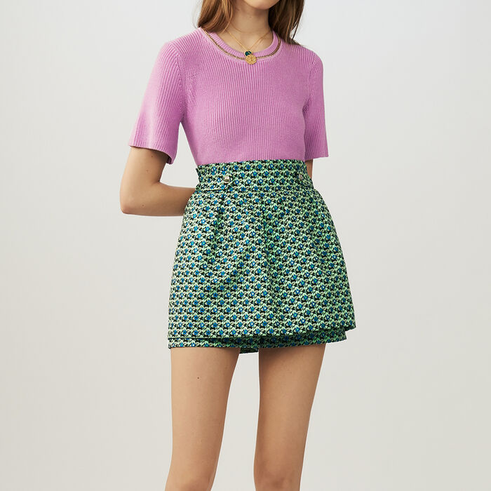 Oversize-Pullover aus Seide : Röcke & Shorts farbe Jacquard