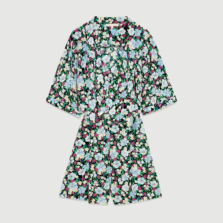 Jumpshort mit Blumen Print : Röcke & Shorts farbe IMPRIME