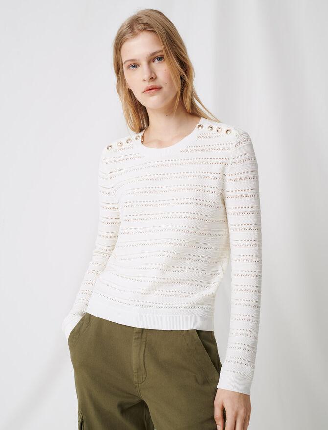 Pullover mit kunstvollen Knopfdetails -  - MAJE
