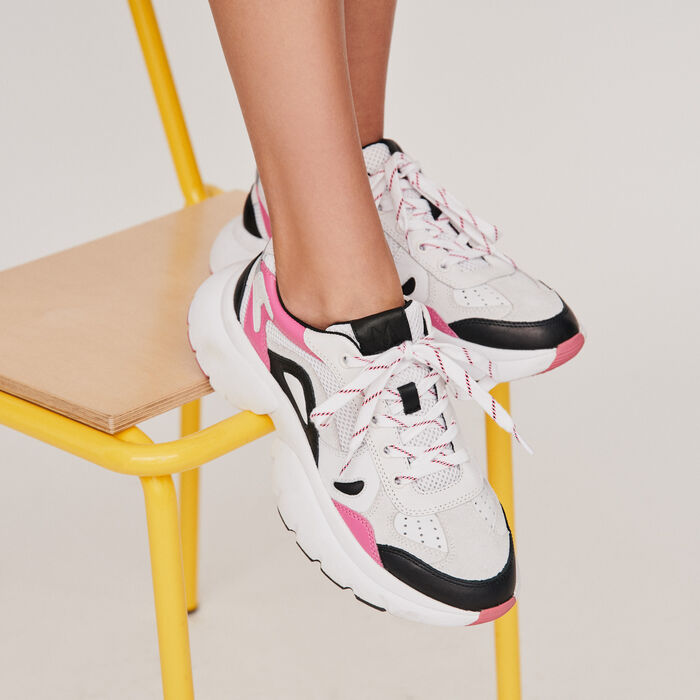 W20 leather city sneakers : Sneakers farbe Rosa
