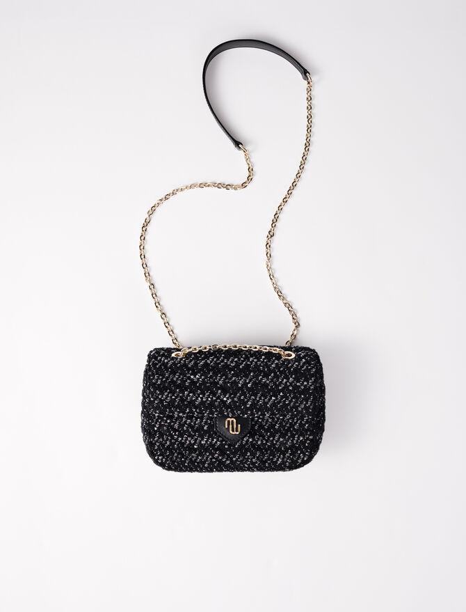Kleine Tasche mit Überschlag aus Tweed -  - MAJE