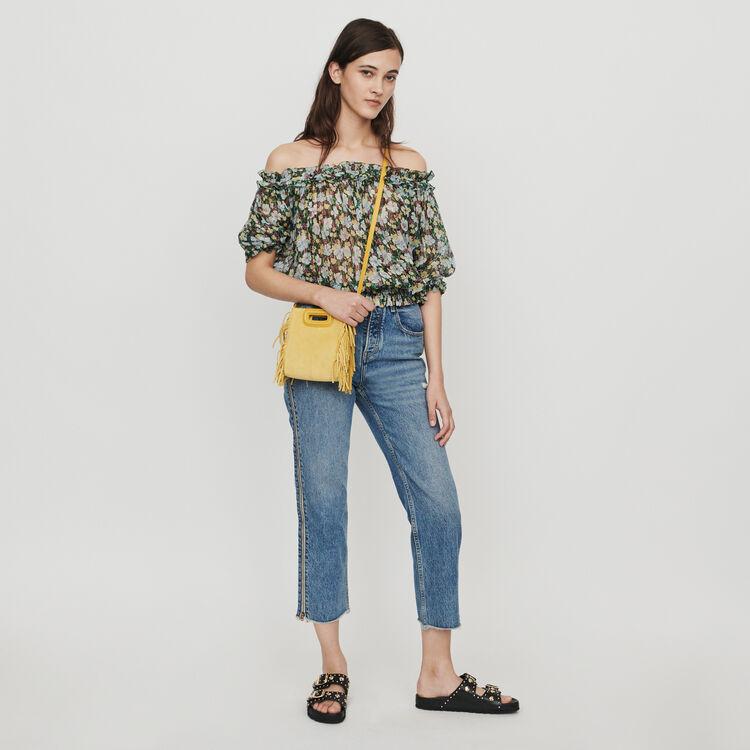 Gesmoktes Top mit Blumenprint : Tops & Hemden farbe IMPRIME